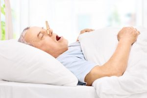 man trying to stop snoring