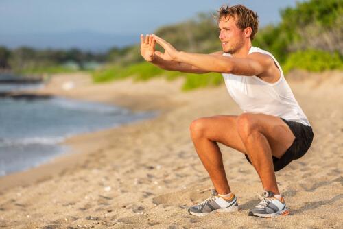 Leg Muscles Exercise Squats