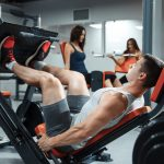 male working out in gym